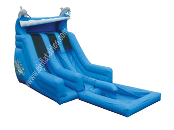 Dual Lane Water Slide with Pool (18' x 10' x 30' - PF)